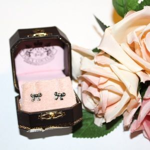 Juicy Couture Bow Stud Post Earrings